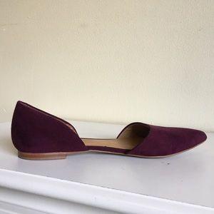 Dolce Vita Burgundy Wine  Suede Shoe Flat